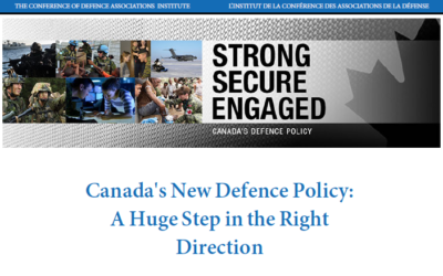 Kilford: Canada's New Defence Policy: A Huge Step in the Right Direction