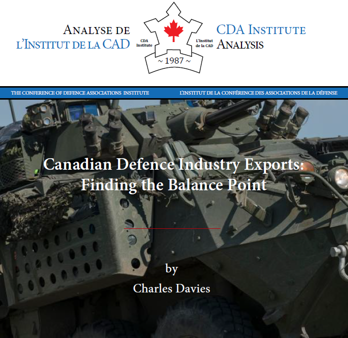 Davies – Canadian Defence Industry Exports: Finding the Balance Point